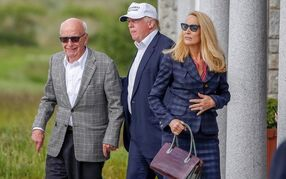They called each other good friends: Rupert Murdoch (left) and Donald Trump.
