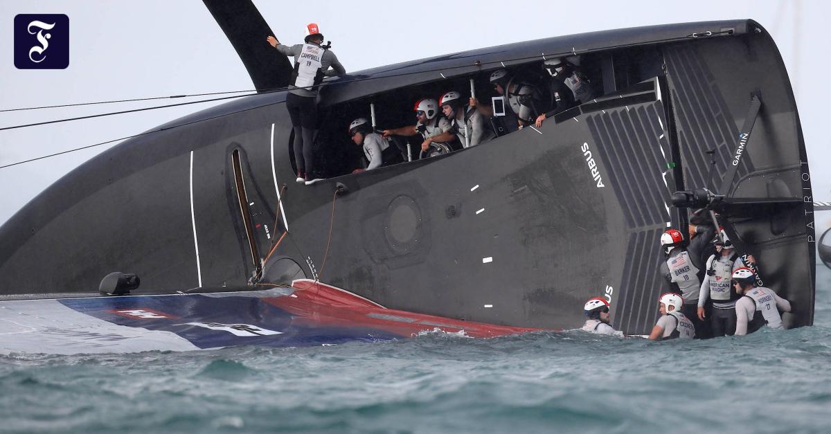 American Magic's yacht capsizes