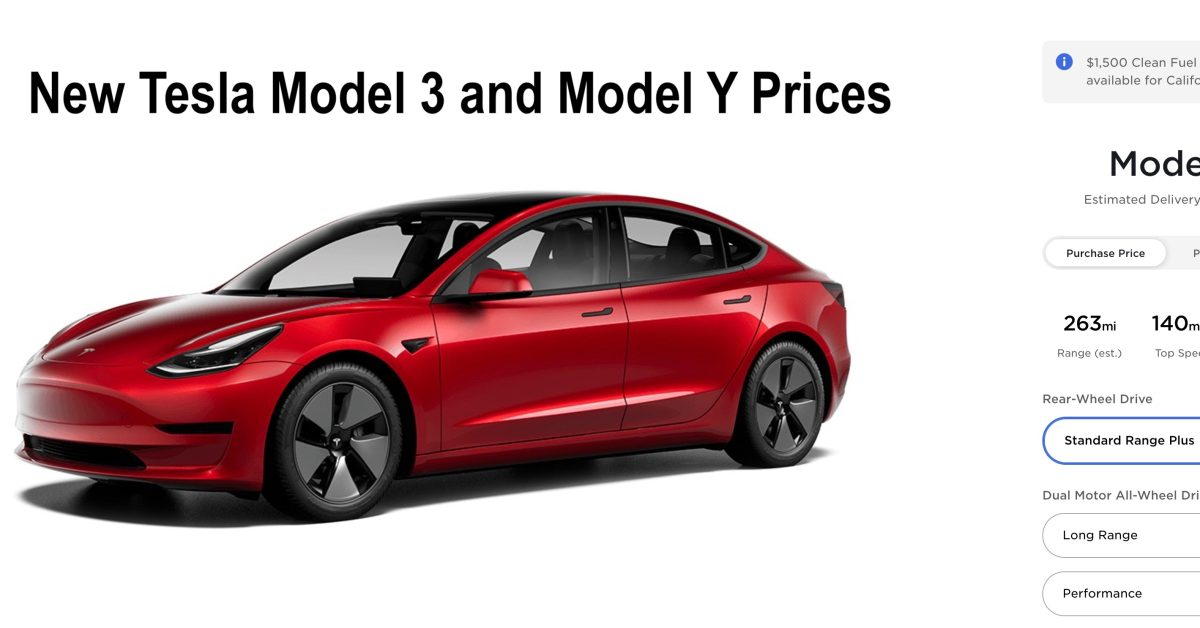 Tesla is cutting prices for the Model 3 and Model Y, and is now starting at less than $ 37,000