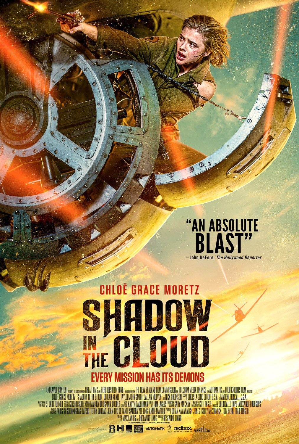 Review of Shadow In The Cloud: Feminist Monster Fight in a WWII Bomber
