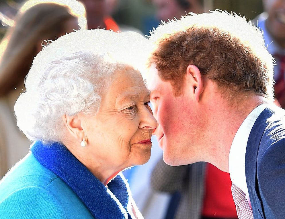 London, England - May 18: Queen Elizabeth II and Prince Harry attend the annual Chelsea Flower Show at Royal Chelsea Hospital on May 18, 2015 in London, England.  (Photo by Julian Symonds - WPA Pool / Getty Images)