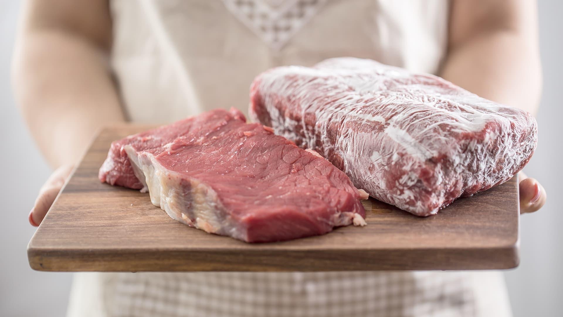 Is Corona virus spread through frozen meat?