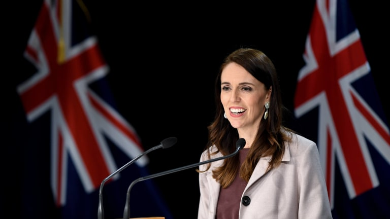 Jacinda Ardern, New Zealand Prime Minister, speaks at the first press conference after the new cabinet's ministerial meeting in Wellington, New Zealand, on November 6, 2020.
