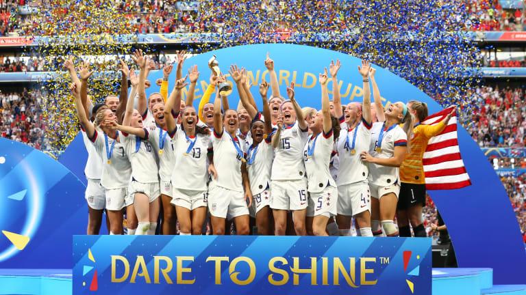 American Carly Lloyd raises the FIFA Women's World Cup