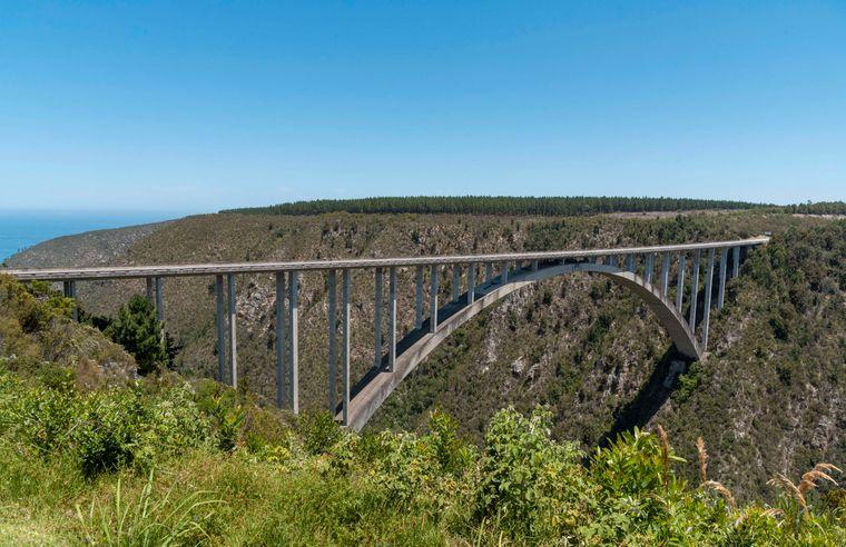 The Blucrans Bridge, 216 meters high, is the longest bridge in all of Africa.