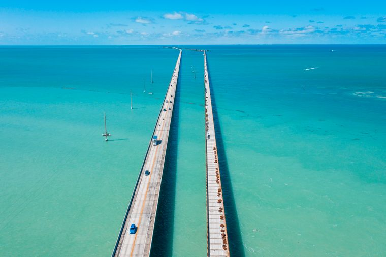 The Seven Mile Bridge is less than seven miles long and still looks endless.