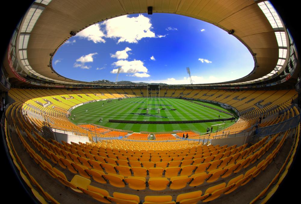 Sky stadium has 34,500 seats.