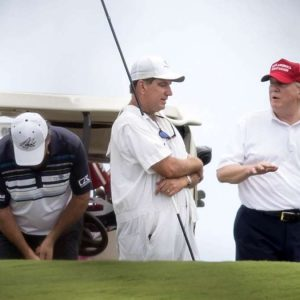 Donald Trump: Video shows the former president scared off the golf course
