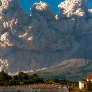 Eruptions in Indonesia: Volcanoes spew out ash and rocks