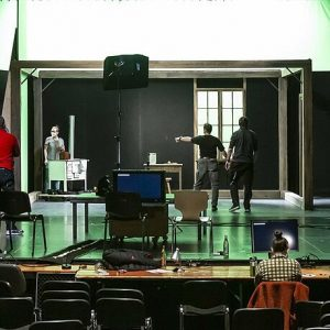 Landestheater Niederbayern: Camera closed instead of curtain