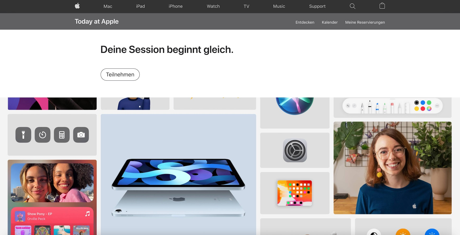 """Today at Apple's online session """"Get to know the iPad"""" """"Macerkopf"""
