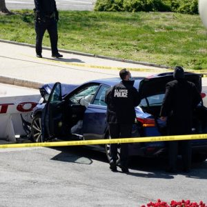 The US Capitol building has been cordoned off due to a security incident - the killing of a policeman