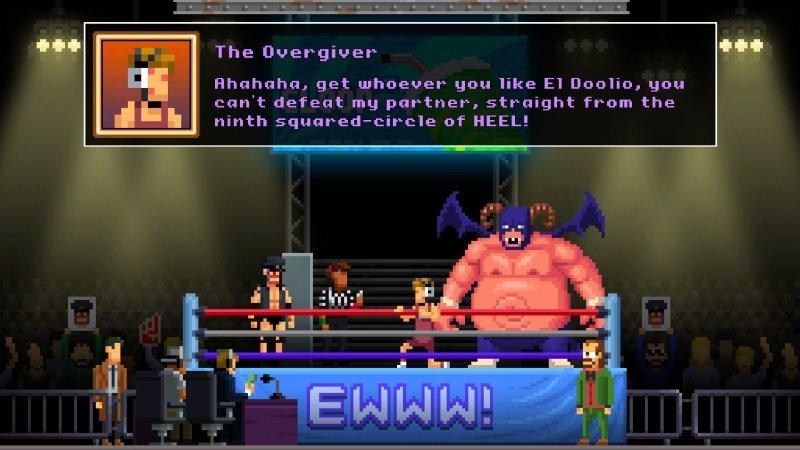 Darkside Detective: A Fumble in the Dark: la scena del wrestler