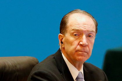 At the virtual Gavi event, World Bank President David Malpass called for a more equitable distribution of COVID-19 vaccines (Reuters / Florence Law)