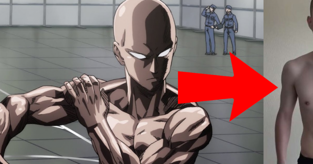 Trains like One Punch Man, his transformation is amazing
