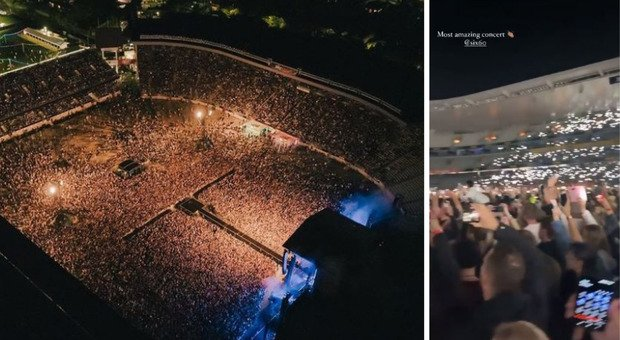 """50,000 at a concert.  """"There are no cases in the country"""""""