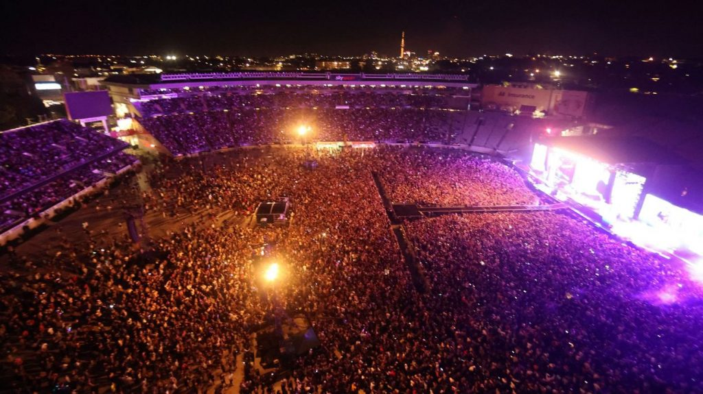 Concert for 50,000 people in New Zealand