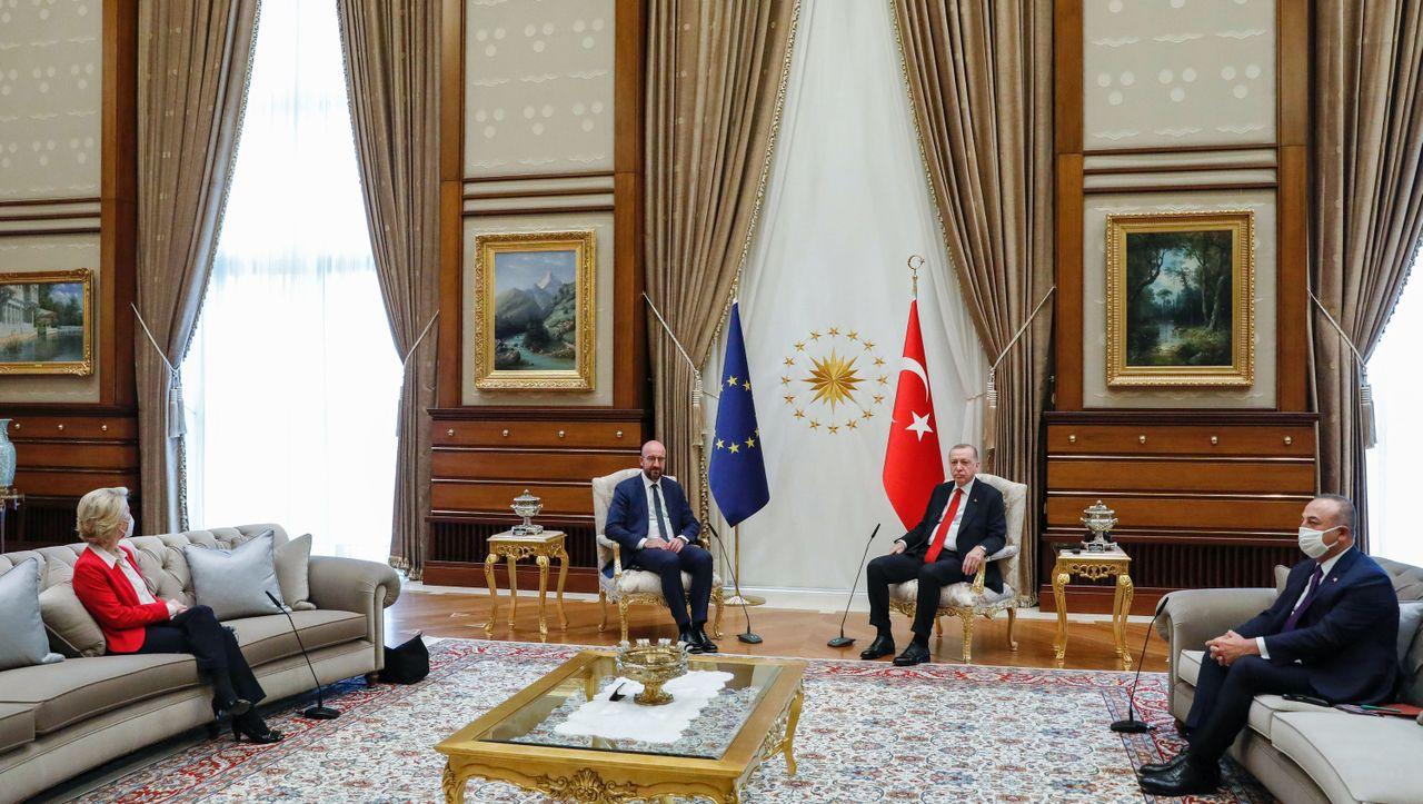 European Union leaders in Turkey: Criticism of the seat arrangement in Recep Tayyip Erdogan - Ursula von der Leyen should go to the sofa