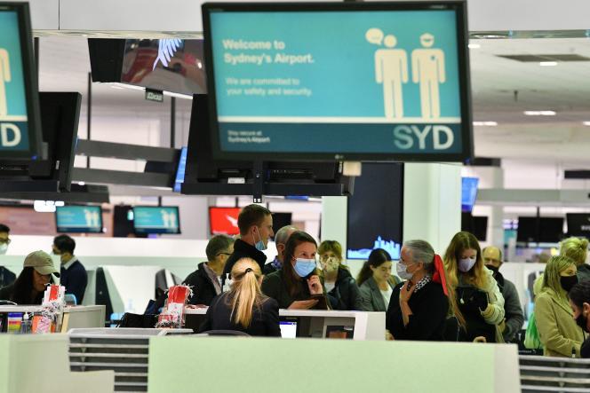 At Sydney International Airport on April 19.