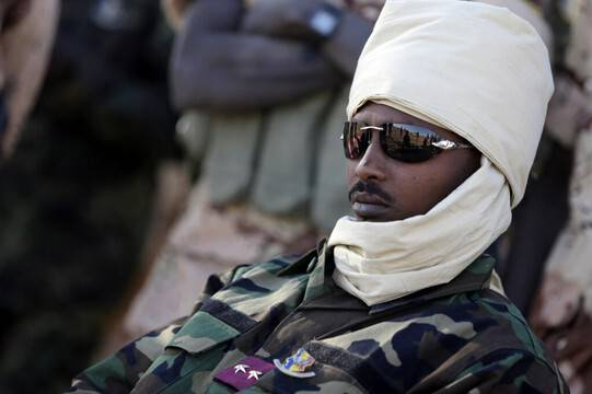 The son of the Chadian president, who died in the fighting, assumes full power