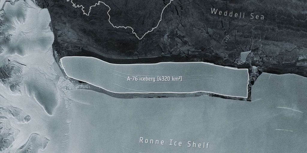 The world's largest iceberg has broken the floating ice in Antarctica