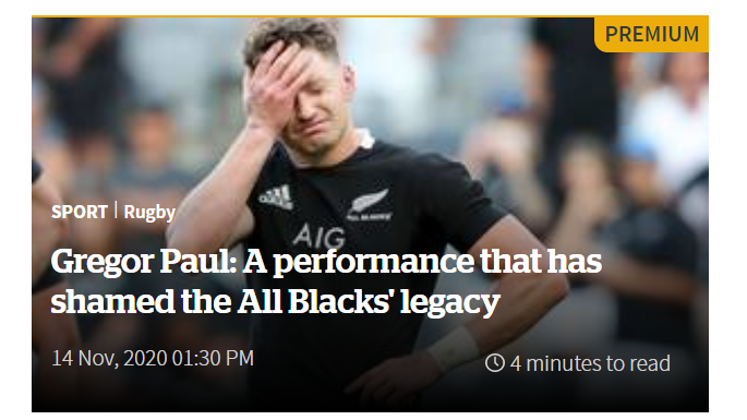 """""""All the blacks are shocked by Argentina,"""" the New Zealand press did not forgive their team"""