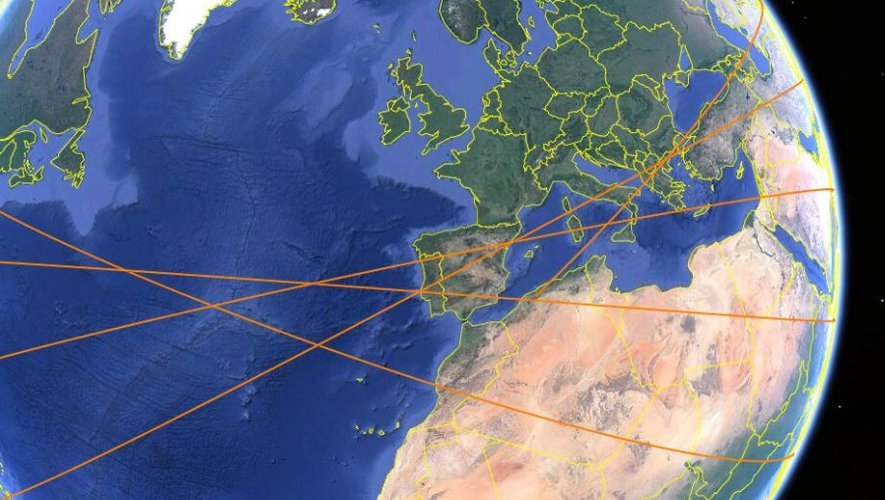 Chinese debris risk - what are the latest revealed tracks, actually interrupting a missile filmed in the skies of Catalonia last night?