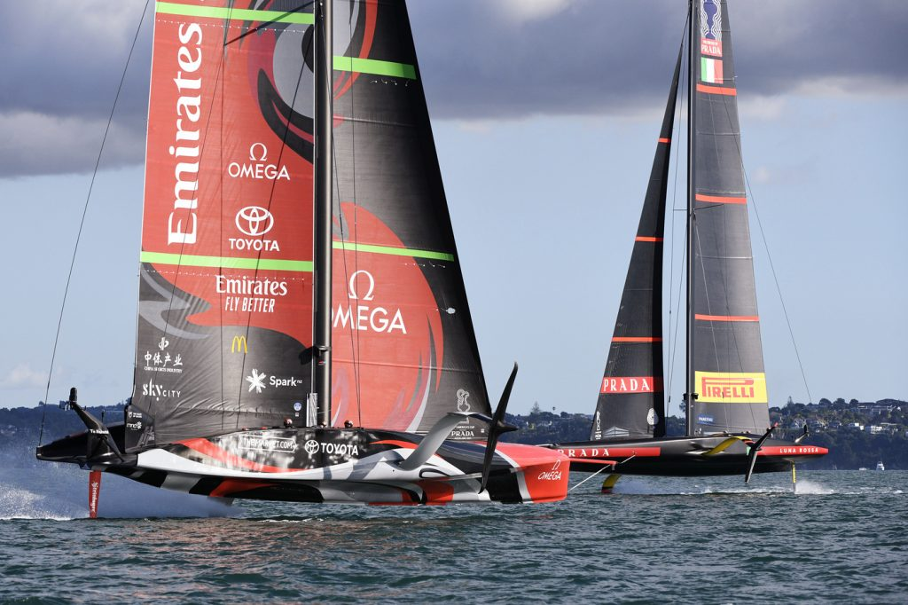 """""""Destroyed. NZ faster with light winds"""" - OA Sport"""