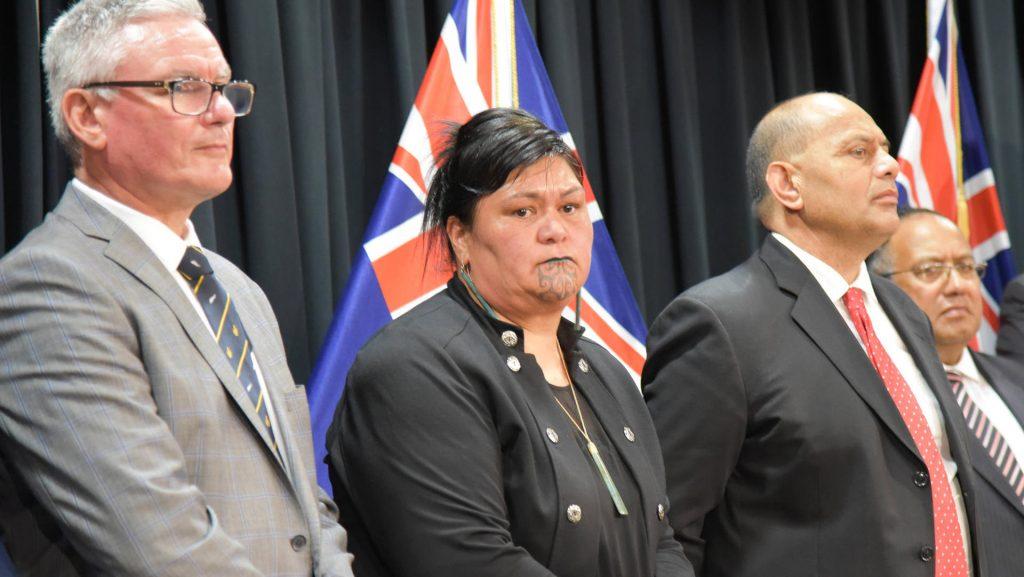 First Maori as Secretary of State - Nanaya Mahuta with chin tattoo
