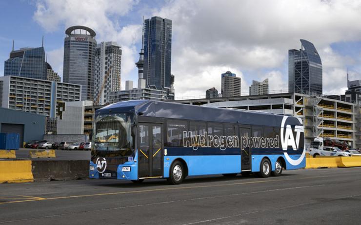Le premier bus à hydrogène de Nouvelle-Zélande