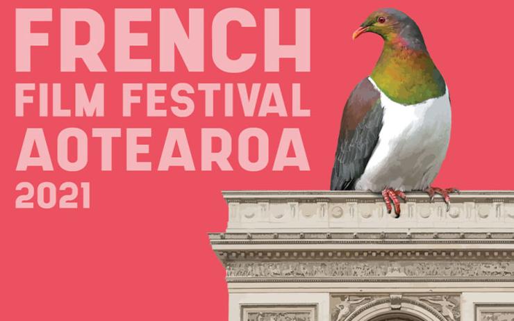 Affiche du french film festival 2021 en Nouvelle-Zélande