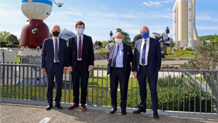 Philippe Baptiste, CEO of Cnes visits the Cité de l'Espace in Toulouse