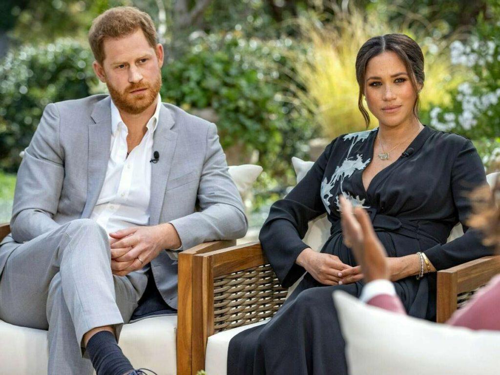 Prinz Harry und Herzogin Meghan im Gespräch mit Oprah Winfrey. Foto: TVNOW / Harpo Productions - Joe Pugliese