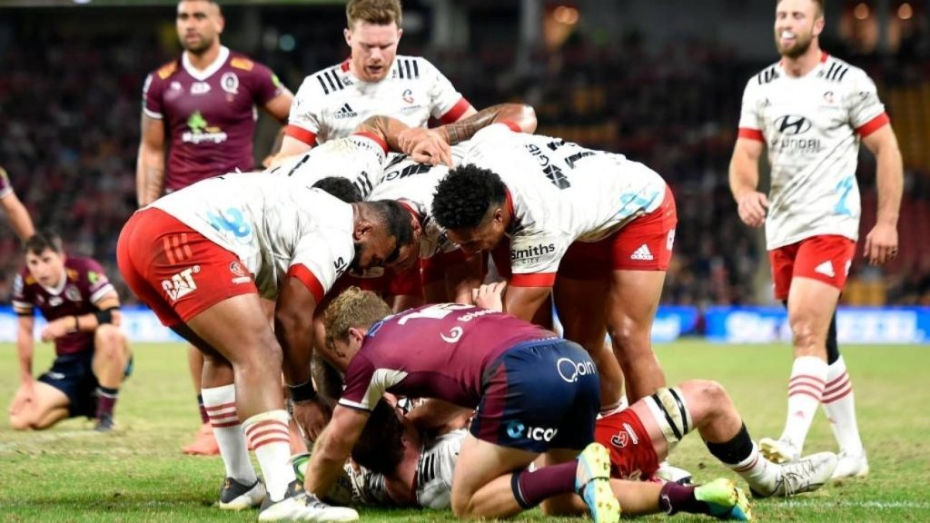The Crusaders crushed the Reds in a duel of champions