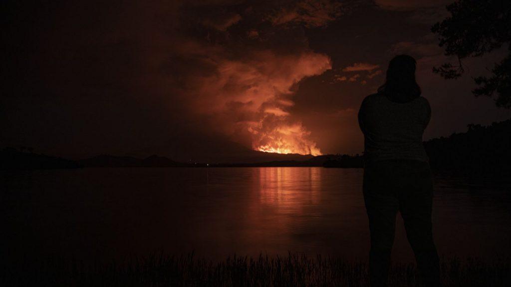 """The announcement of a volcano eruption near Nyiragongo was a """"false alarm""""."""