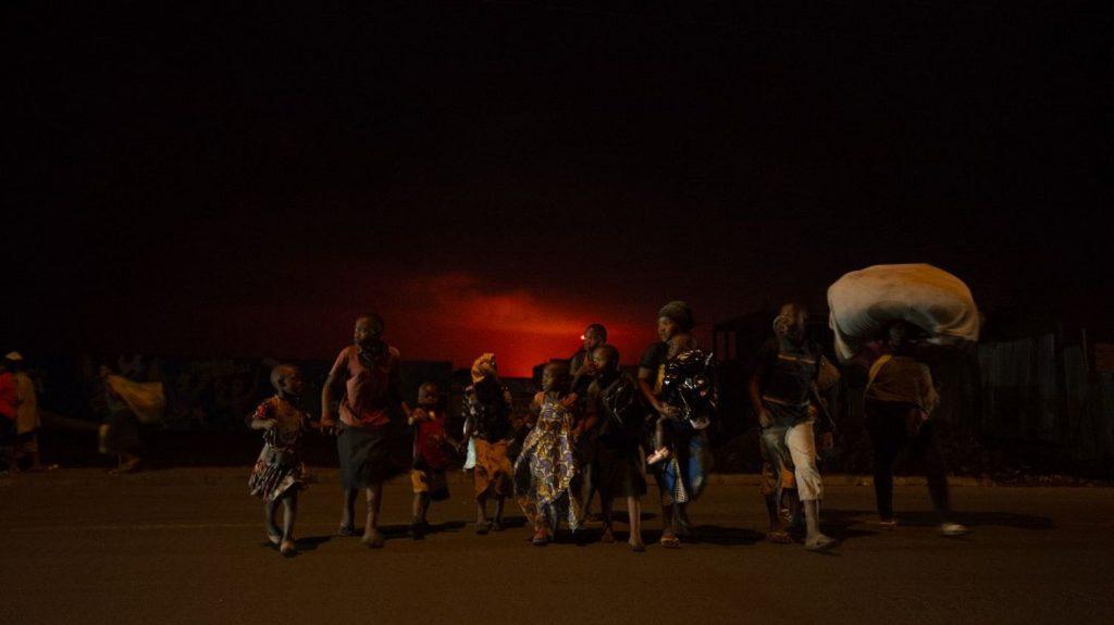 The eruption of Nyiragongo volcano evacuated the city of Goma