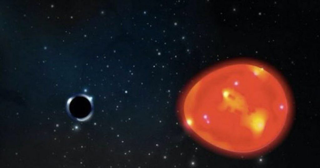 space.  Detection of a small black hole very close to Earth