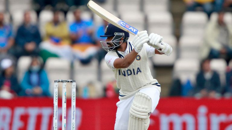Ajinkiya Rahani was India's top scorer, one point away from the 24th Test in half a century