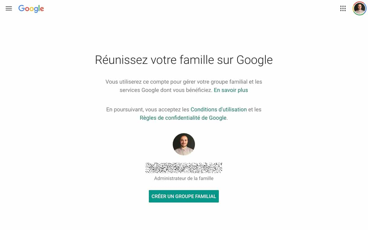 Google One Family Sharing