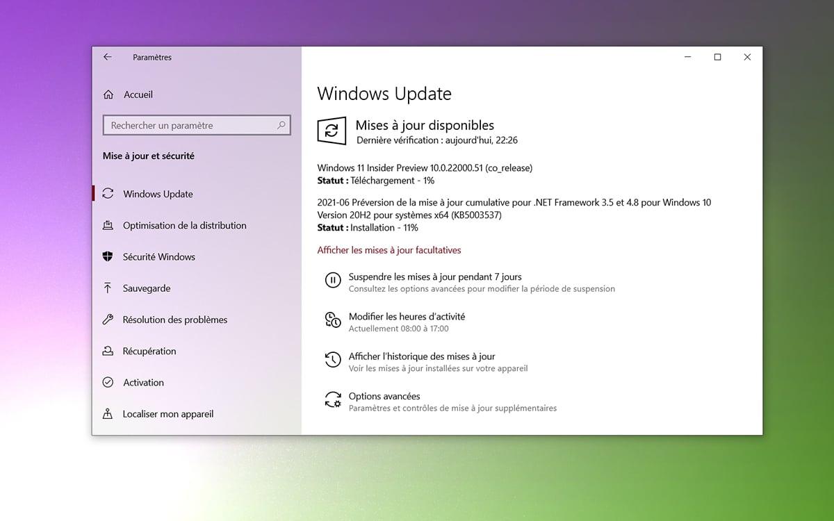 Windows 11 build update