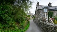 House on steep Harlech Street in North Wales