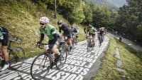 Cycling on the slopes of Morro di Sormano in Lombardy