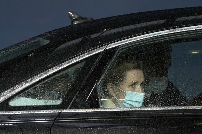 Danish Prime Minister Mette Frederiksen in Brussels on May 24.  On Monday, May 31, Germany and France summoned her to clarify the accusations of espionage revealed by the press.