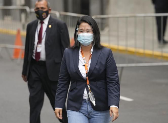 Keiko Fujimori in Lima, Peru, Monday, June 21, 2021.