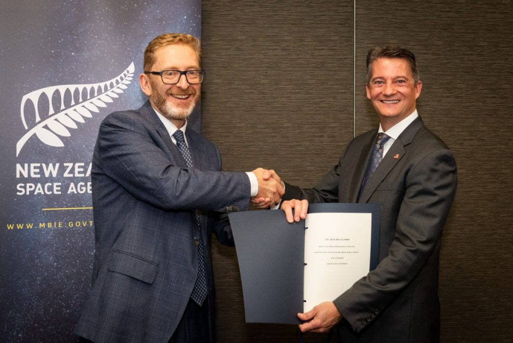 New Zealand signs Artemis agreements to spur sustainability in space mining