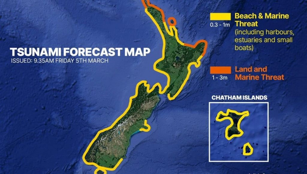 New Zealand, tsunami alert returned: Thousands of people fled after very strong shock at sea