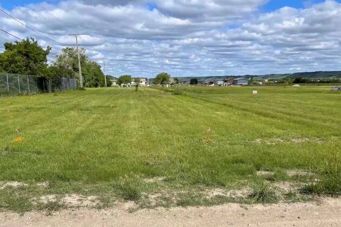Photo of the site of a former Aboriginal boarding school in Marival Municipality, Saskatchewan (Canada), where more than 750 unidentified graves have been discovered.