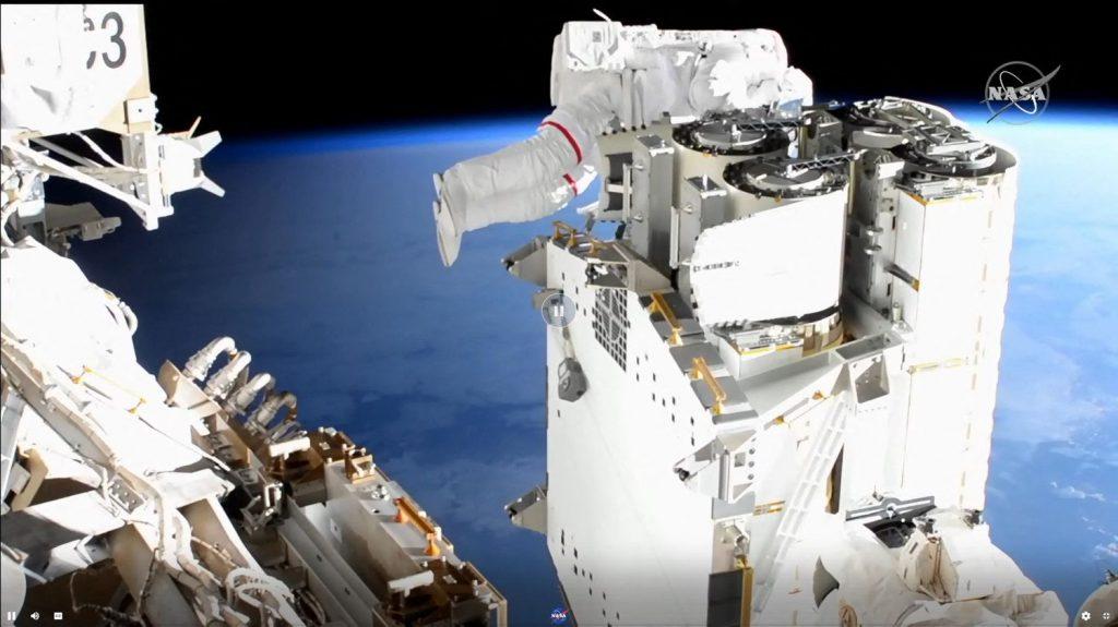 Thomas Bisquet's new spacewalk on Sunday