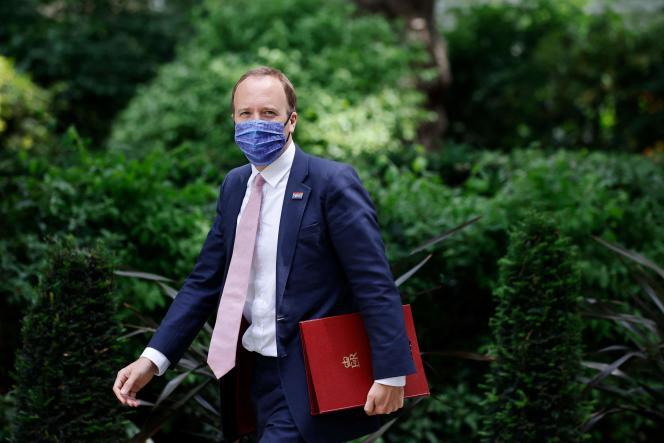 British Health Secretary Matt Hancock on June 15, 2021 in London.