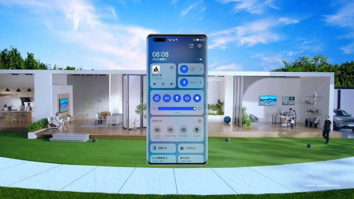 HarmonyOS on smartphone